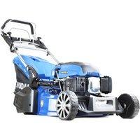 "Hyundai 19"" Self Propelled Petrol Roller Lawn Mower Includes Engine Oil"