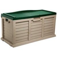 Starplast 440L Garden Storage Utility Chest - Green and Beige
