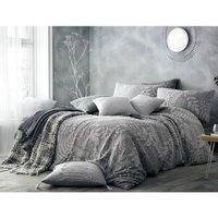 Portfolio Home Palazzo Duvet Cover and Pillowcase Set - Grey / King
