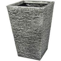 Tall Brick Effect Planter - Grey