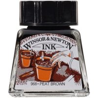 Winsor and Newton 14ml Drawing Ink - Peat Brown