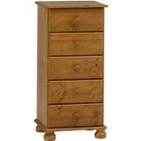 Steens Richmond Five Drawer Narrow Chest - Pine