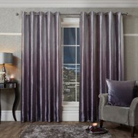 Aurora Ombre Velvet Purple Eyelet Curtains - Purple / 229cm