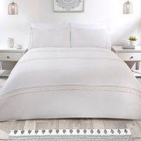 Missouria Duvet Cover and Pillowcase Set - White / King