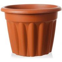 Wham Vista 60cm Round Plastic Garden Planter (Terracotta)