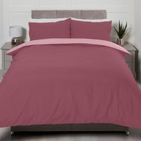 Riley Reversible Duvet Cover and Pillowcase Set - Blush/Pink / Double