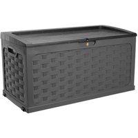 Starplast Garden Rattan Style Plastic Storage Chest  - Black