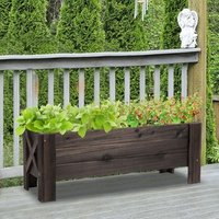 Garden Raised Bed Planter Grow Containers - Carbonized