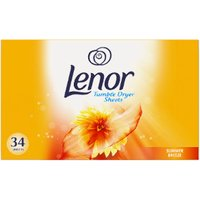 'Pack Of 34 Lenor Tumble Dryer Sheets - Summer Breeze
