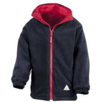 Back to School Reversible Jacket - Red and Black / 2-3 Years