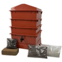 3 Tray Standard Terracotta Tiger Wormery - Red