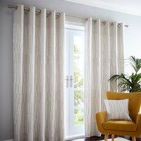 Detroit Linen Eyelet Curtains - Linen / 137cm / 168cm