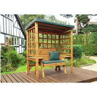 Charles Taylor Wentworth 2 Seat Arbour - Green - Redwood/Green