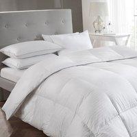 5* Luxury White 15 tog Goose Down Duvet - White / Super King size