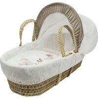 With Love Palm Moses Basket - Cream