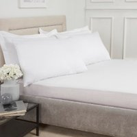 180 Thread Count Cotton Deep Fitted Sheet - White / King