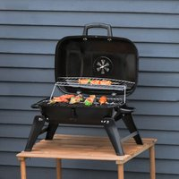 Charcoal Grill Portable Compact BBQ - Black