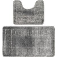 Bath Mat Set - Grey