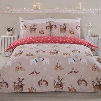 Winter Animal Kisses Duvet Cover and Pillowcase Set - King