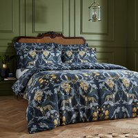 Cheetah Floral Duvet Cover Set - Double