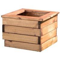 Wooden Cube Planter 41cm - Brown