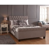 Layla Storage Ottoman Bed Frame - Silver / Double