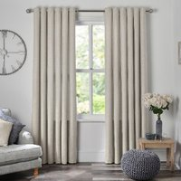 Chatsworth Thermal Lined Eyelet Curtains - Natural / 137cm / 168cm