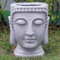 Granite Buddha Head Planter