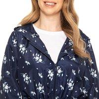 Tracey Ladies Floral Raincoat  - Navy / 10