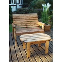 Charles Taylor Deluxe Wooden Bench Set  - Redwood/Green