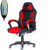 WestWood Heated Massage Office Recliner Chair - Red/Black