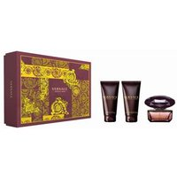 Versace Crystal Noir by Versace for Women 3 Piece Fragrance Gift Set - Brown/ Yellow