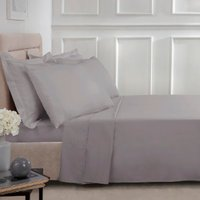 180 Thread Count Cotton Flat Sheet - Grey / Single