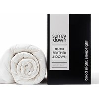Duck Feather and Down 4.5tog Duvet - White / Super King size