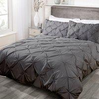 Balmoral Cotton Rich Duvet And Pillow Case Set - Charcoal / Double