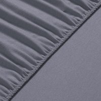 80x190x20 cm Flannel Fleece Fitted Bed Sheet  - Winter Grey
