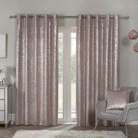 Samira Eyelet Curtains - Mauve / 229cm