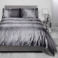 Aurora Ombre Duvet Cover and Pillowcase Set - Silver / King