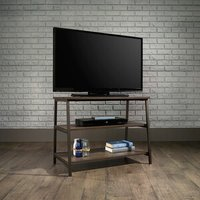 'Industrial Style Tv Stand - Smoked Oak