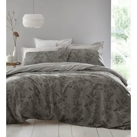 Arboretum Duvet Cover and Pillowcase Set - Pewter / Superking