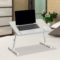 Folding Laptop Stand PC Table with 4-level Height  - Oak