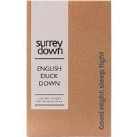 English Duck Down Duvet - White / King size / 220cm / 10.5