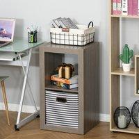 2-Tier Storage Shelf Bookshelf Display Cabinet - Grey