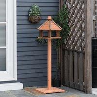 Wooden Bird Feeder Bird Table - Brown