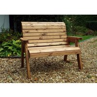 Charles Taylor Traditional Two Seater Bench - Redwood