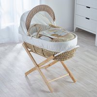 Tiny Ted Cream Moses Basket with Natural Opal Folding Stand