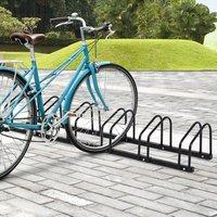 Bike Parking Rack Locking Storage Stand - Black / 6 Racks