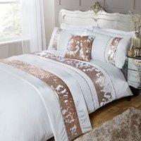 Mermaid Sequin Duvet Cover and Pillowcase Set - Rose Gold / King