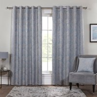 Tranquillity Lustre Eyelet Curtains - 168cm / 137cm