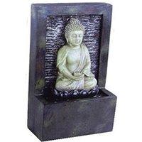 Small Meditating Buddha Water Feature - Grey